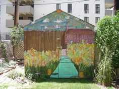 painted shed murals - Google Search