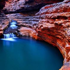 Hancock Gorge, Karijini National Park.     File this under places we want to be right now.