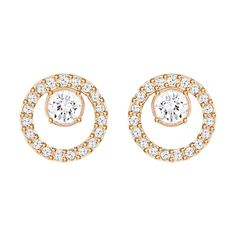 Swarovski Creativity Circles Rose Small Earrings - Geeves Jewellers - suppliers of watches and jewellery, London Tassel Drop Earrings, Small Earrings, White Earrings, Circle Earrings, Sterling Silver Earrings Studs, Pierced Earrings, Stud Earrings, Swarovski Uk, Swarovski Jewelry