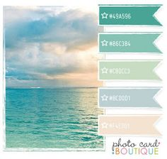 Ocean blue.... Need some vacation! #Color #combo