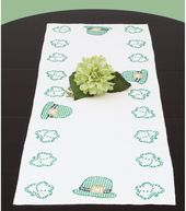 """Stamped Table Runner/Scarf 15""""X42""""-St. Patrick's Day"""