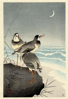 Ohara Koson (Shoson),(1877 - 1945) - Three Plovers