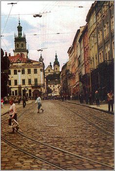 Conked streets of Lviv