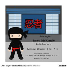 Sold. Little #ninja #birthday #invitation #kids Available in different products. Check more at www.zazzle.com/celebrationideas