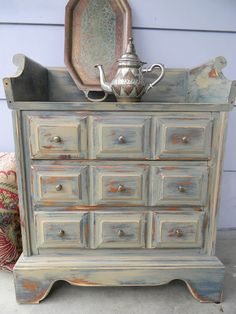 Emily's Up-cycled Furniture: Bohemian Small Chest of Drawers