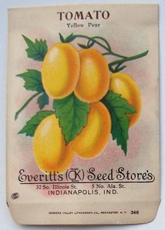 EVERITT'S SEED STORE,  Tomato 346, Vintage Seed Packet