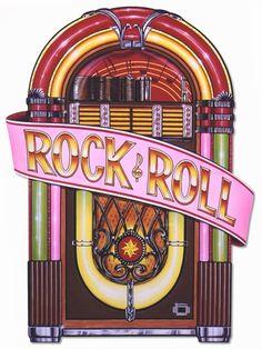 Rock and Roll Juke Box Cutout