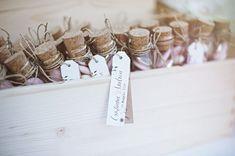jordan almonds in test tubes // photo: serena cevenini