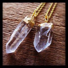 Gold Foil Icicle Quartz Necklace
