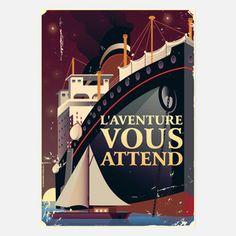 Adventure Vous Attend Print, 22€, now featured on Fab.