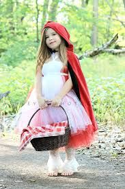 Little red riding hood - red hood, white dress, tutu