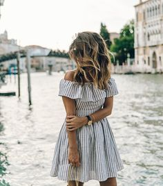 Sexy Women Summer Striped off shoulder Ruffles Dress Casual Sleeveless Slash Neck Backless Slim Dresses