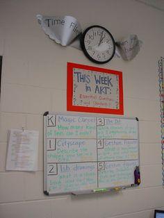 Mrs. Knight's Smartest Artists: Art Room Tour- essential standards board