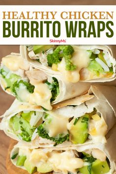 Next time you're in the mood for a Mexican-inspired burrito whip up a batch of our Healthy Chicken Burrito wraps instead. Next time you're in the mood for a Mexican-inspired burrito whip up a batch of our Healthy Chicken Burrito wraps instead. Clean Eating Recipes For Dinner, Clean Eating Meal Plan, Clean Eating Snacks, Healthy Dinner Recipes, Appetizer Recipes, Healthy Eating, Cooking Recipes, Lunch Snacks, Appetizer Ideas