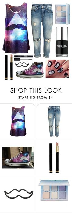 """""""Through the Galaxy"""" by yilinzc ❤ liked on Polyvore featuring HVBAO, Gucci, Christian Dior, Anastasia Beverly Hills and Nails Inc."""
