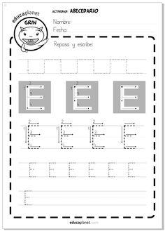 Ficha letras para imprimir - grafomotricidad - Actividad Abecedario - Letra