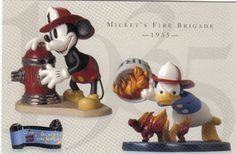 Walt Disney Classic Collection (WDCC) Mickey & Donald Duck Fire Fighter Print: 4 inches by 6 inches. Walt Disney Classic Collection for promotional purposes only. It was never sold to the public.
