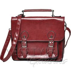 YESSTYLE: yeswalker- Buckled Crossbody Bag (Red - One size) - Free International Shipping on orders over $150
