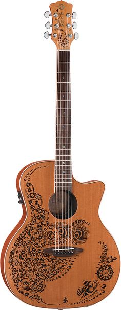 Luna Henna Oasis Cedar Cutaway Acoustic Electric Guitar