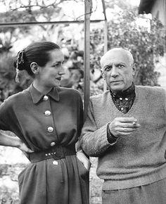 * Françoise Gilot et Picasso 1962 Vallauris