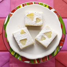 Key Lime Bars Recipe from Taste of Home -- shared by Kristine Staton of Broomfield, Colorado  #valentines
