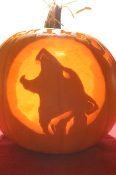 Howling Wolf Halloween Pumpkin submitted by our visitor