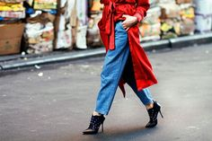 How To Do Denim In 2016 #refinery29  http://www.refinery29.uk/denim-style-tips#slide-7  Honey, I Blew Up The JeansDon't be afraid to size up. Take the best of the 70s for a bolder denim look, and style it with an attitude of the 90s. Keep the look in control with a minimal top like a black silk shirt or a slim fitted breton shirt. These were named my big boy pants, and every time I wear them, I feel like I have tents around my legs. ...