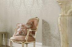 papier peint style baroque, très doux