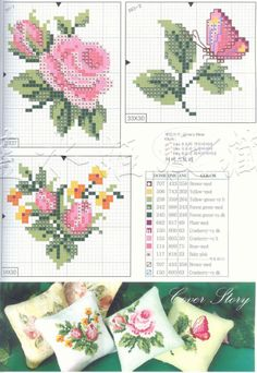 Cross-stitch Roses & Butterfly ... Gallery.ru / Фото #1 - ***** - celita