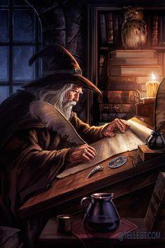Wizard's room by dleoblack.deviantart.com on @DeviantArt
