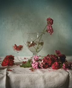 #still #life #photography • photo: *** | photographer: Andrei Blank | WWW.PHOTODOM.COM Still Life Photos, Still Life Photography, Carnations, Red Color, Masters, Fine Art, Flowers, Painting, Beautiful
