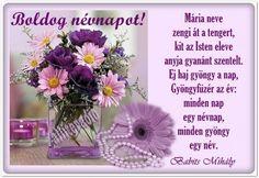 névnap, Mária, szöveges, képeslap, virágok, köszöntő, vers, Marvel, Erika