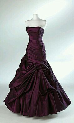Dark Purple Strapless Gown