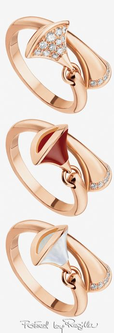 Bulgari rose gold rings | House of Beccaria#