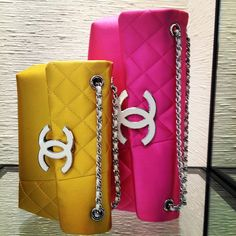 Chanel flap bags.