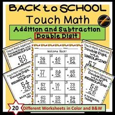Touch Math: Thanksgiving Variety Pack   Touch math, Math and ...