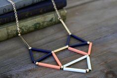 Oh, Hello Friend | Triangle Tube Necklace $20