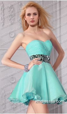 cute multi colored crystals accented short cocktail dress - cheap prom dresses. cheap formal dresses formal dresses,formal gowns,graduation dresses,formal dance dresses,party dresses