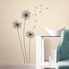 Whimsical Dandelion Peel and Stick Giant Wall Decals - Overstock Shopping - Big Discounts on Roommates Wall Decor