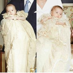 Prince George & Princess Charlotte on their christening day.