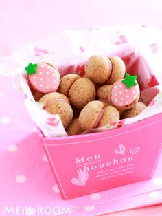 strawberry♡ Japanese Cookies, Japanese Sweets, Food Photography Styling, Food Styling, Macarons, Cute Food, Good Food, Cute Desserts, Cakes And More