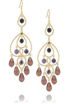 Cristina 24-karat gold-vermeil amethyst earrings by Mallarino