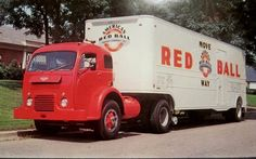 AMERICAN RED BAY Moving Van, White Truck, INDIANAPOLIS,IN GIANT 6x9 POSTCARD