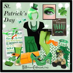 Ladies' St. Patrick's Day outfit and accessories inspiration! #Green #Fun #Sexy