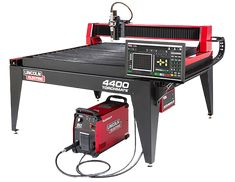 The Lincoln Electric Torchmate 4400 is a compact machine that delivers big results for your business. Offering the ultimate in reliable CNC plasma cutting operation, you'll be on the ground running as fast as possible. Corte Plasma, Garage Organization, Organization Ideas, Cnc Plasma Table, Desktop Cnc, Plasma Cutter Art, Welding Cart, Welding Equipment, Industrial Machine