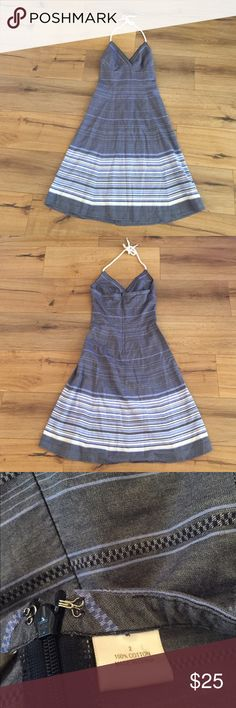 Tommy bahama stripe halter dress Stripe halter dress with rope detail. Resort ready Tommy Bahama Dresses