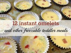Freezer Cooking- Includes Individual Toddler meals for quick lunches.
