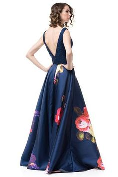 3d65734f floral two piece homecoming dress #AN876-Simply Fab Dress Formal Dresses  Online, Affordable