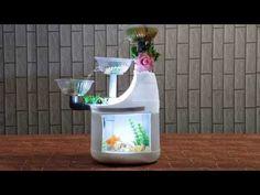 Hướng dẫn cách làm bể cá mini từ chai nhựa có lọc - YouTube Fish Tank Coffee Table, Aluminum Patio Covers, Diy Water Fountain, Plastic Bottle Art, Diy Aquarium, Diy Tank, Cement Crafts, Bunny Crafts, Diy Home Crafts