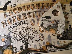 """Hallow-ouija"" Spirit Board with Planchette Spooky Halloween, Holidays Halloween, Halloween Crafts, Happy Halloween, Halloween Decorations, Witch Board, Samhain, Hallows Eve, Occult"